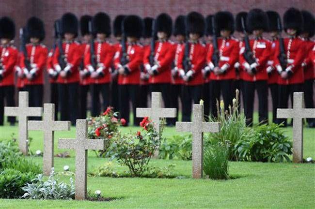 British horse guards at memorial service