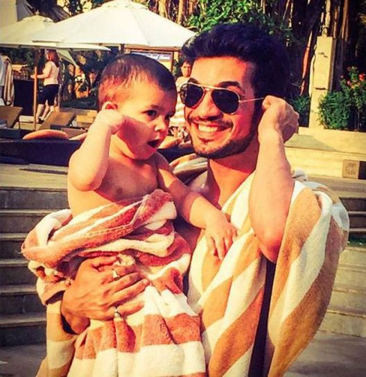His Instagram page is full of pictures of his 2-year-old son Ayaan. And the Bijlani junior is so cute that you can't stop looking at the little bundle of cuteness. Arjun is married to Neha Swami.
