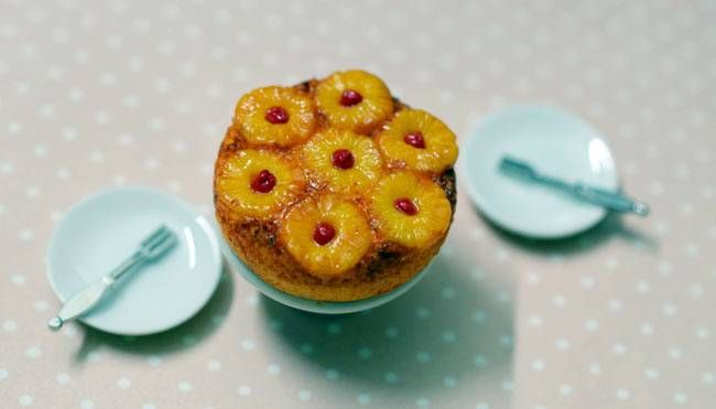 Mitha's version of an upside down pineapple cake.