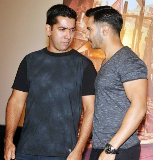 Rohit (L) and Varun Dhawan at the trailer launch of Dishoom
