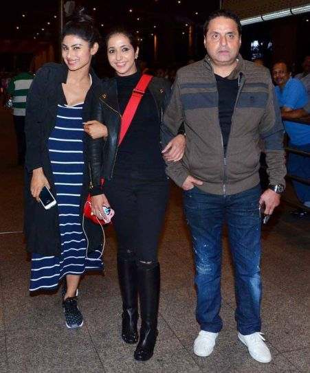 Mouni Roy is back home after performing at IIFA Awards in Madrid, Spain.