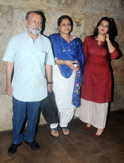 Pankaj Kapur, Supriya Pathak and Sanah Kapoor at Udta Punjab screening