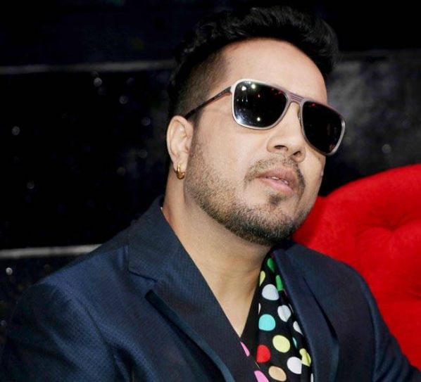 Singer-composer-judge Mika Singh on the sets of Sa Re Ga Ma Pa.