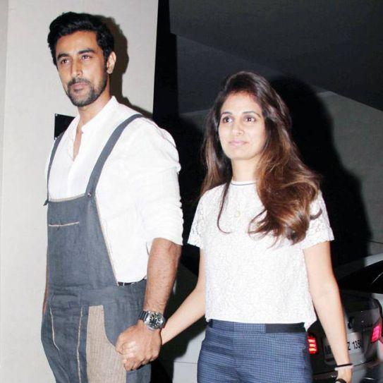 Kunal Kapoor and Naina Bachchan at Housefull 3 screening