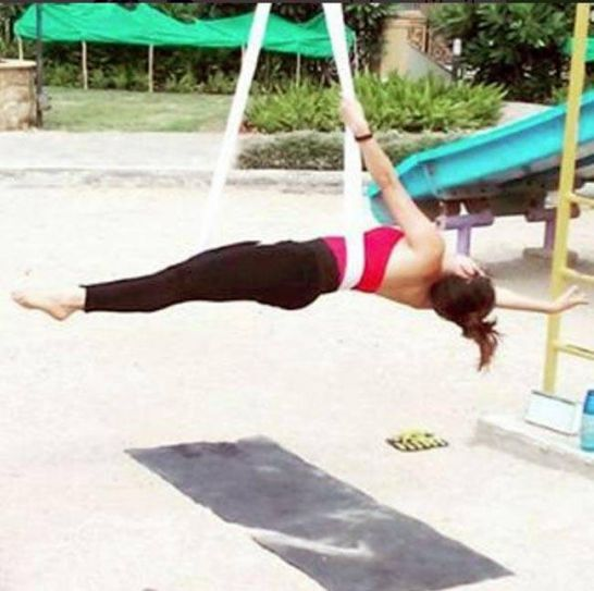 Shakti actress Rubina Dilaik seems to be combining yoga with other fitness forms.