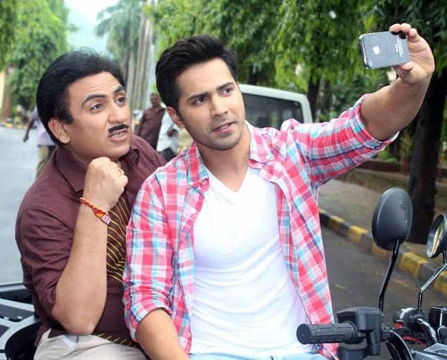 Television actor Dilip Joshi and Varun Dhawan