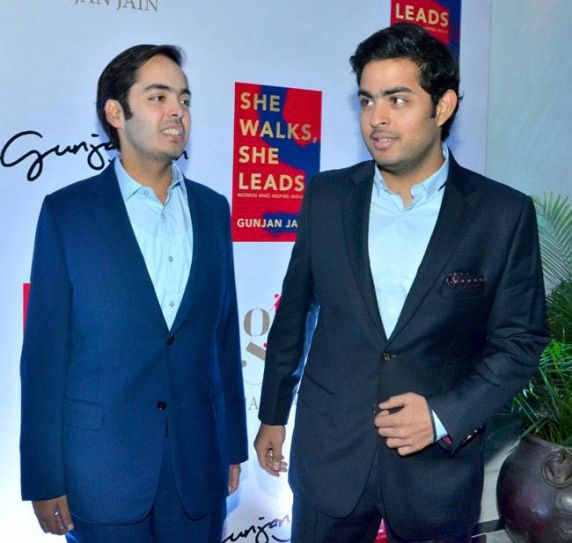 Anant and Akash Ambani
