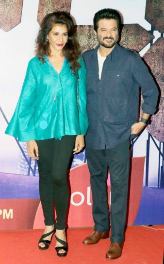 Anil Kapoor poses with Anita Raj.