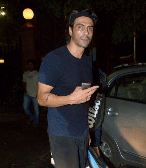 Arjun Rampal spotted at Khar Gymkhana in Mumbai.