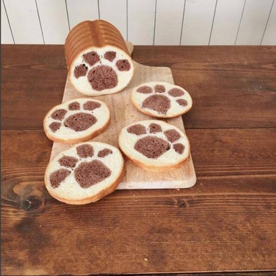 Whose foot prints are these? Konel's breads are imaginative and delicious.