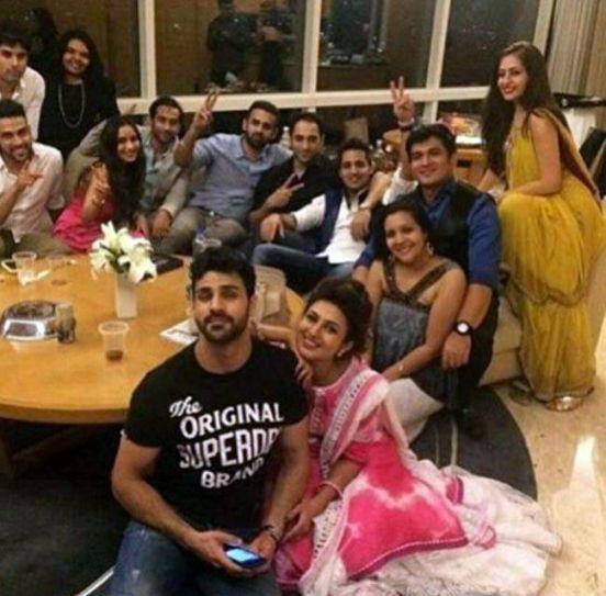 Vivek and Divyanka at the after-party