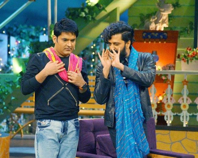 So now we know. Kapil and Riteish are up to some fun act.