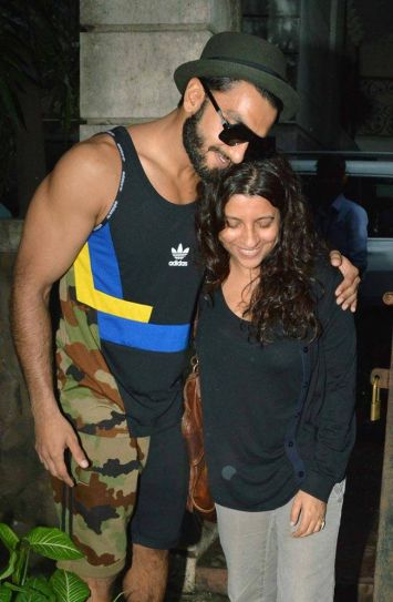 Ranveer Singh was clicked outside the Excel Entertainment office.
