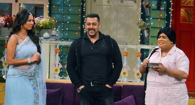 Salman with Rochelle Rao and Kiku Sharda.