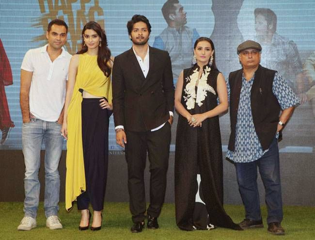 Happy Bhaag Jaayegi team members Abhay Deol, Diana Penty, Ali Fazal and Piyush Mishra.
