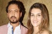 Irrfan and Kriti Sanon at Madaari screening
