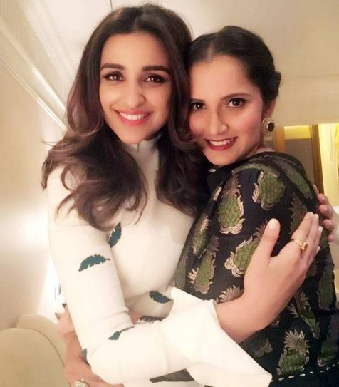Parineeti Chopra and Sania Mirza