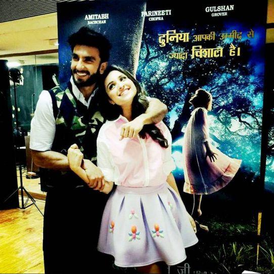 Ranveer Singh and Parineeti Chopra