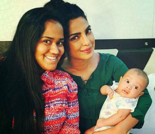 Priyanka Chopra with Arpita Khan Sharma and