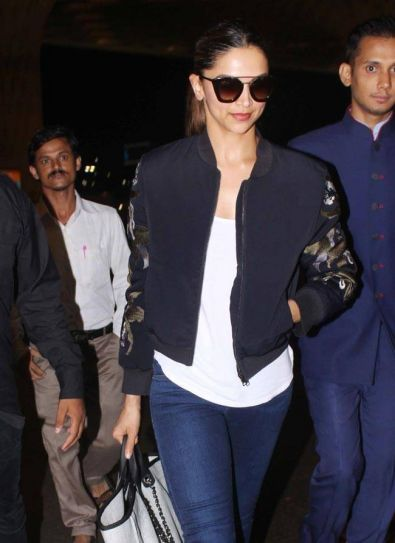 Deepika Padukone clicked at an international airport