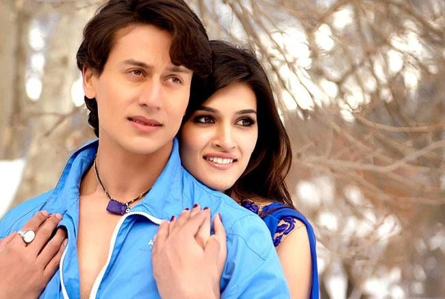 Tiger Shroff and Kriti Sanon in a still from Heropanti.