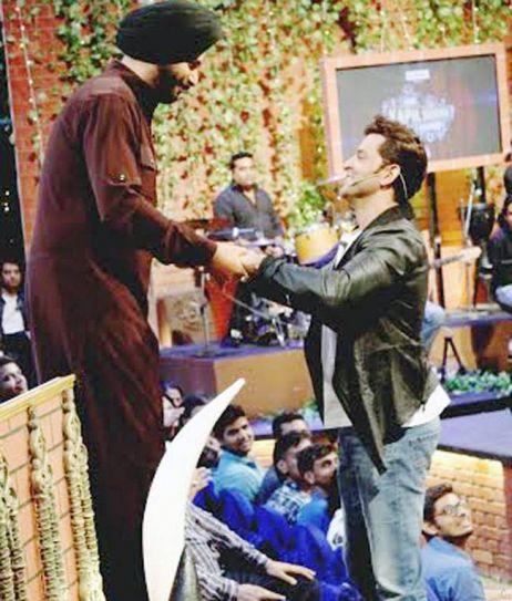 Navjot Singh Sidhu and Hrithik Roshan
