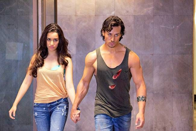 Tiger Shroff and Shraddha Kapoor in a still from Baaghi.