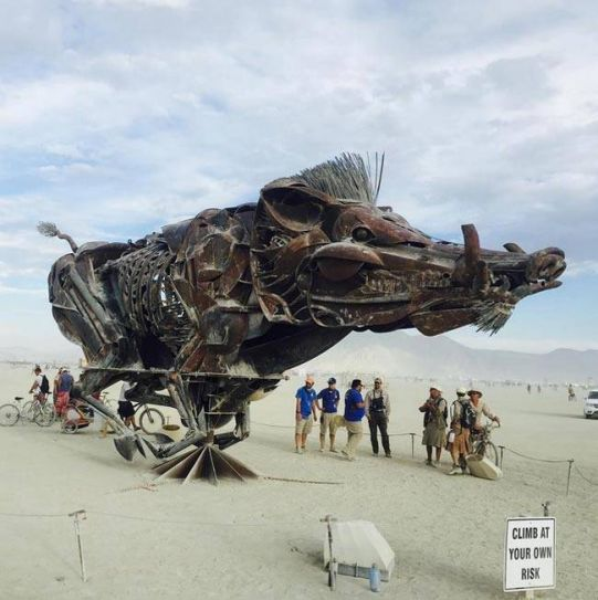 The Burning Man desert festival