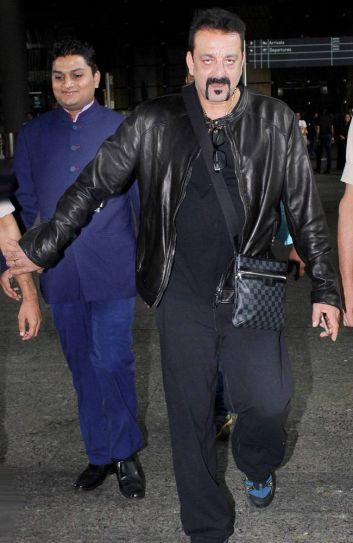 Sanjay Dutt at the Mumbai international airport.