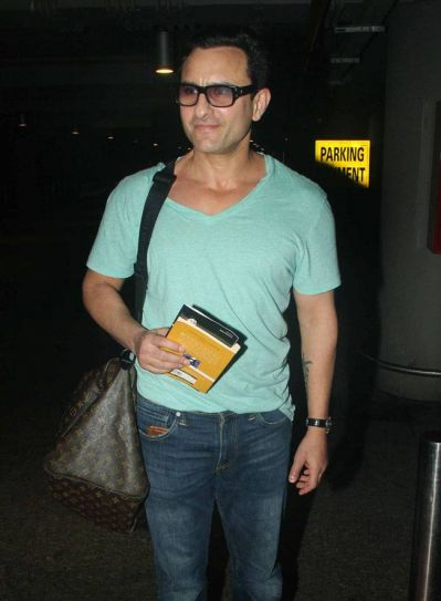 Saif Ali Khan at Mumbai international airport.