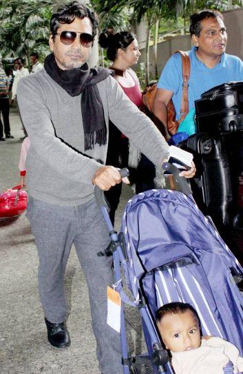 Nawazuddin Siddiqui was seen at Mumbai international airport