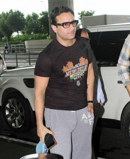 Saif Ali Khan at Mumbai international airport