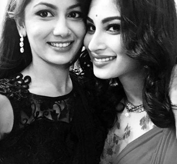 Mouni Roy and Sriti Jha: Mouni is also great friends with Kumkum Bhagya lead Sriti Jha aka Pragya. They often visit each other's sets to spend time together. We also recently spotted the two friends at an awards function giving quotes together.