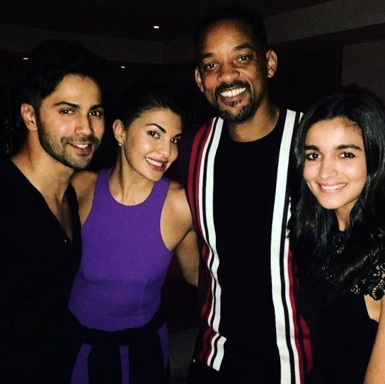 Will Smith, Varun, Alia and Jacqueline