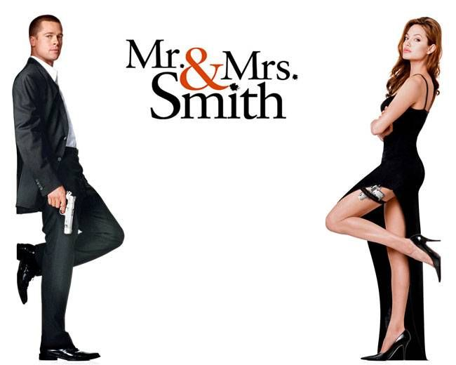 A poster of Mr and Mrs Smith