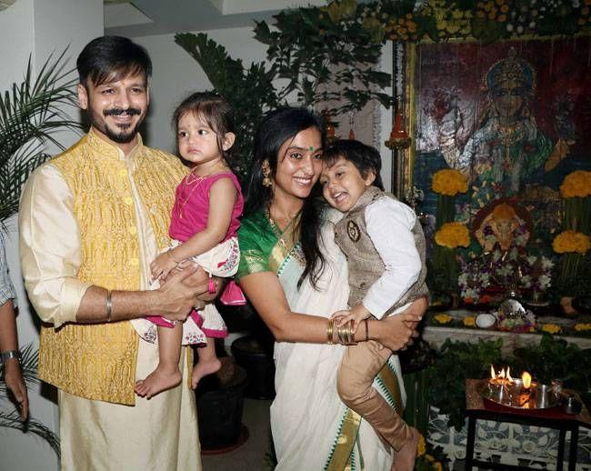 Vivek Oberoi with wife Priyanka Alva Oberoi