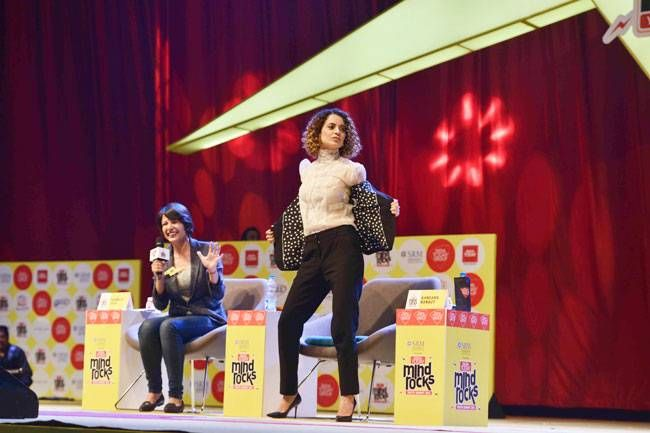Kangana Ranaut at Mind Rocks 2016