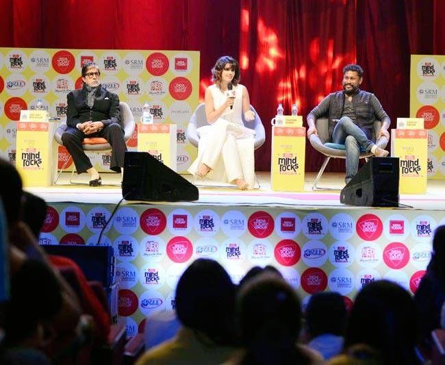 Amitabh Bachchan, Taapsee Pannu and Shoojit Sircar