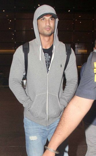 Sushant Singh Rajput at Mumbai international airport