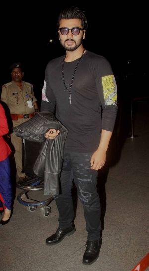 Arjun Kapoor at Mumbai international airport