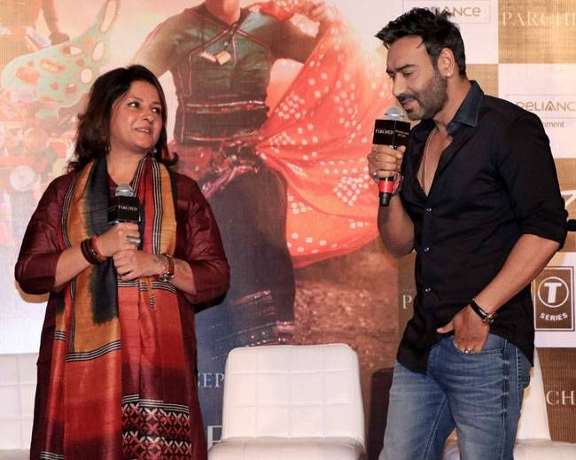 Ajay Devgn and Leena Yadav at PVR Juhu