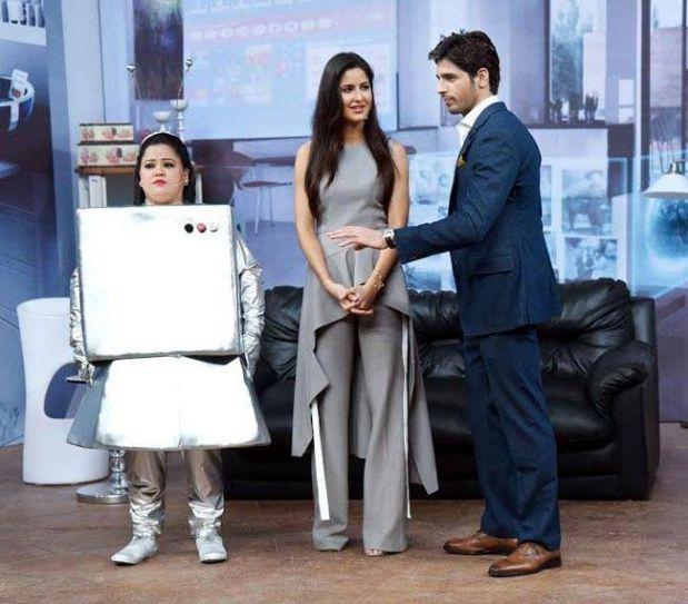 Bharti Singh, Katrina Kaif and Sidharth Malhotra