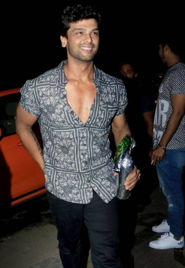Kushal Tandon looks all happy and excited about the party.