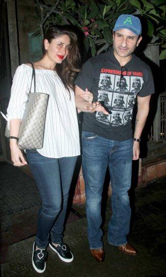 Kareena Kapoor with Saif Ali Khan