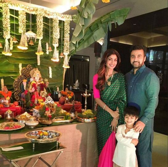 Shilpa Shetty and Raj Kundra celebrate Ganesh Chaturthi