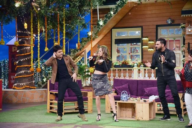Time to shake a leg. Kapil trying to match steps with Hazel.