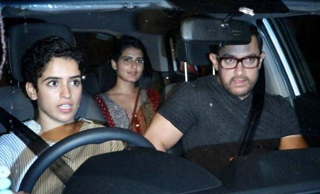 Aamir Khan and his co-stars from Dangal leave Hakkasan.