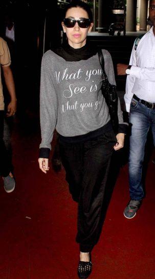 Karishma Kapoor at airport