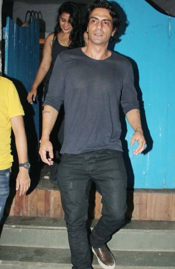 Arjun Rampal walks out of A.D. Singh's Olive Bar and Kitchen in Khar West. The restaurant has branches in Delhi as well.