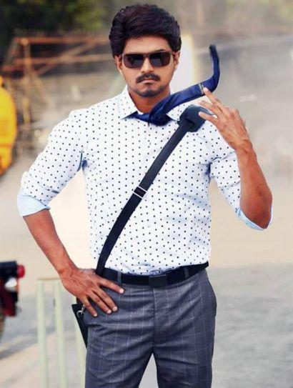 Vijay looks stylish in Bhairava
